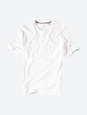 Unifarbenes T-Shirt mit Flammgarn-Struktur