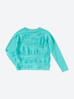 Colourful Jumper with 3D Pattern