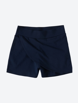 Plain Shorts with Wrapped Front