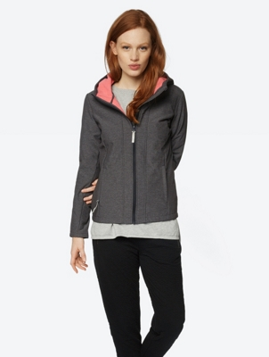 Water Repellent Softshell Jacket with Hood