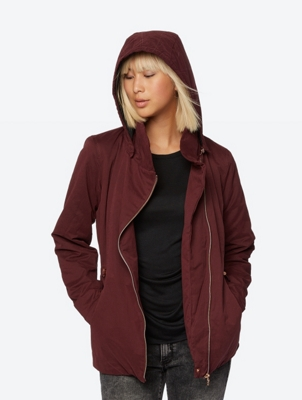 Quilted Parka To-The-Point with Asymmetrical Zip