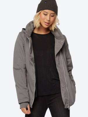 Utility Style Jacket with Teddy Fur Lining