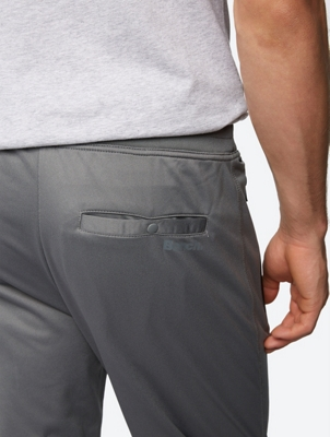Sweat Pants with a Shiny Surface