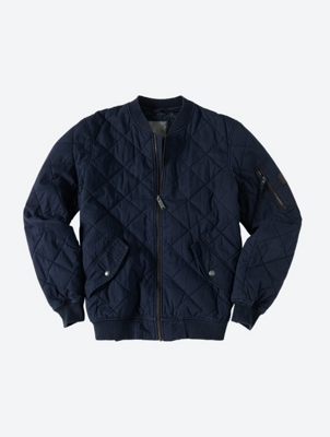 Quilted Bomber Jacket Trail with Ribbed collar