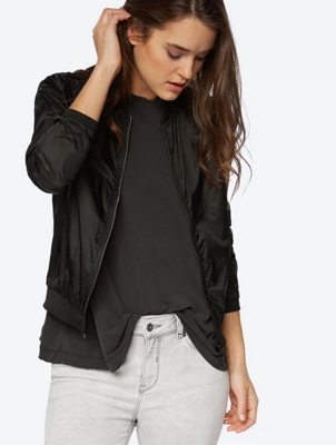 Transparent Jacket in a Bomber Style