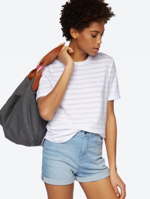 Plain T-Shirt with Transparent Stripes