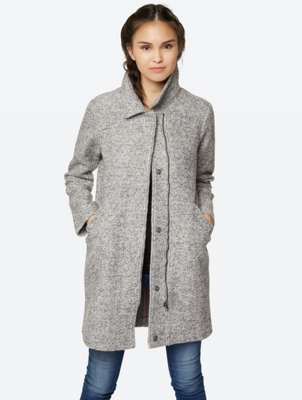 Long Wool Mix Grey Coat