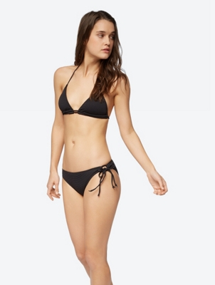 Plain Bikini Bottoms with Ribbons on the Sides