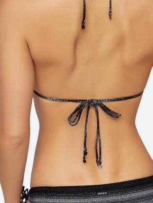 Patterned Bikini Top in Triangle Style