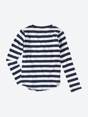 Long Sleeve Striped T-Shirt with Graphic Print