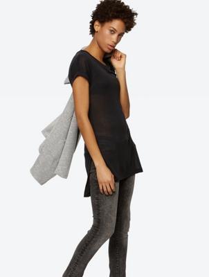 Softes T-Shirt im längeren Tunika-Stil