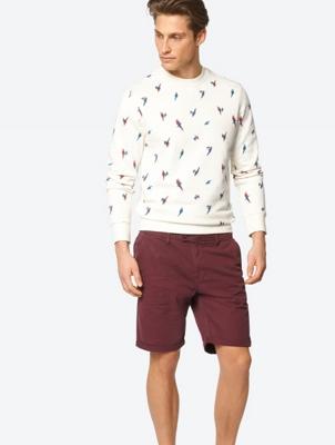 Unifarbene Shorts im Chino-Stil