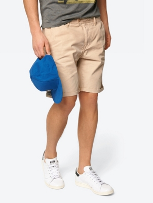 Plain Shorts in Chino Style