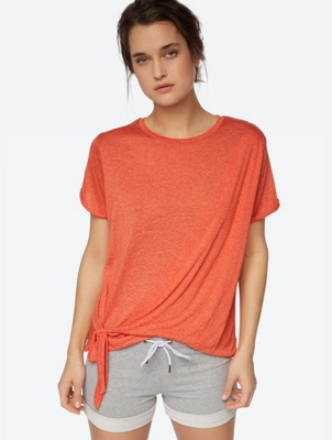 Marl T-Shirt with Wraparound Front