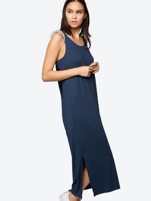 Long Dress with Overcut Back Section