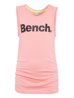 Vest Top with Glittering Bench Lettering on the Front