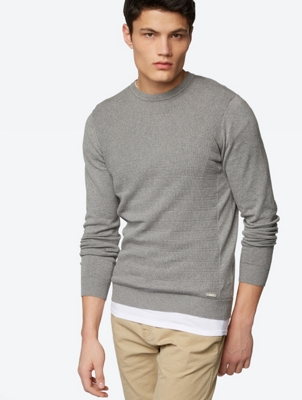 Plain-Coloured Conrast Knit Jumper Racesend
