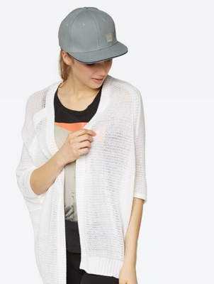 Sheer Cardigan Particle with Short Sleeves