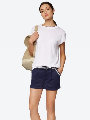 Chino Shorts with Woven Belt