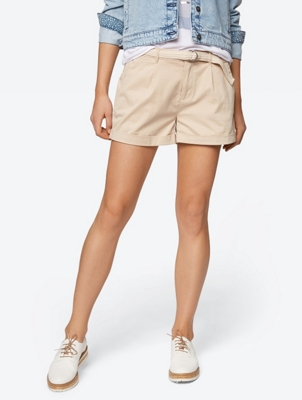 Unifarbene Shorts im Chino-Stil
