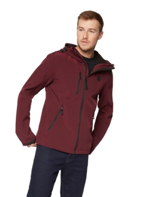 Single Coloured Softshell Jacket with Hood