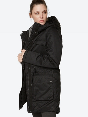 Plain parka Buckshot with water repellent finish