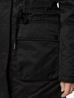 Plain Parka with Water Repellent Finish