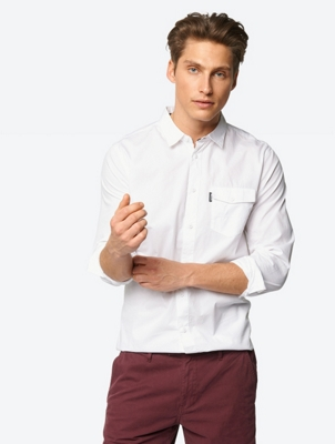 Plain Shirt with Breast Pocket