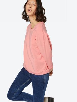 Plain Sweatshirt Glorify with Cropped Sleeves