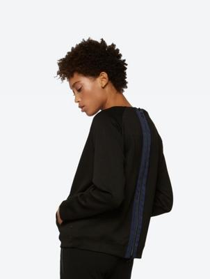 Unifarbenes Sweatshirt in legerer Passform