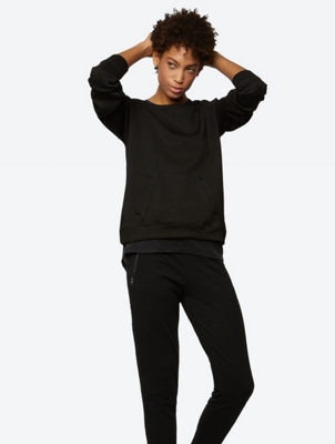 Loose Fit Sweatshirt with Zip in Back