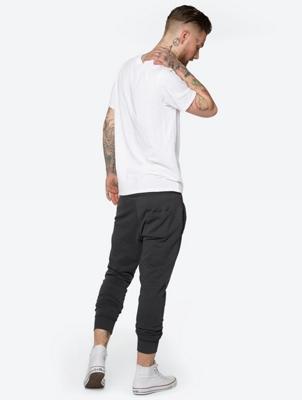 Unifarbenes T-Shirt mit Front-Print