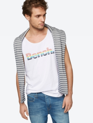 Plain Vest with Colourful Bench Logo