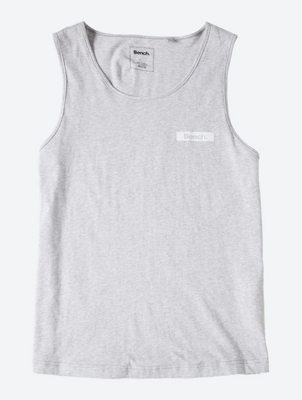 Plain Vest with Contrasting Logo Print