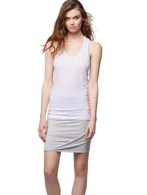 Vest Top with Glittering Bench Lettering