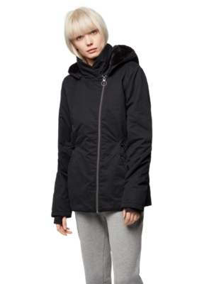 Warm Short Parka with Detachable Hood