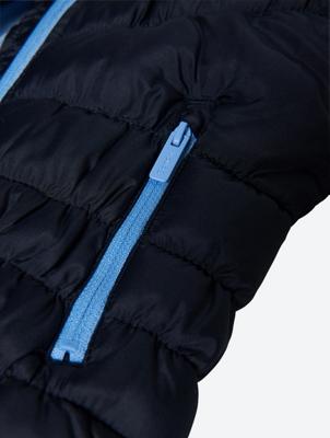 Jacke in Stepp-Optik mit Bench-Print auf der Brust