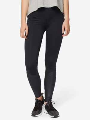 Plain Leggings with Light Coating