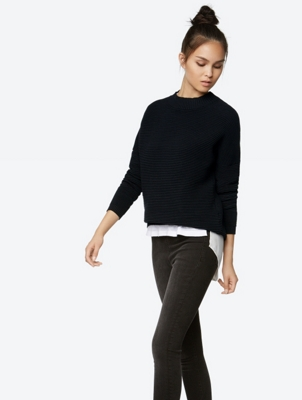 Boxy Fit Ribbed Sweater