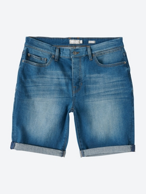Denim Shorts with Used-Look Wash