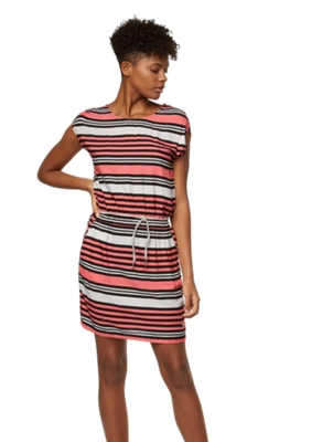 Dress with Multi-Coloured Stripe Pattern