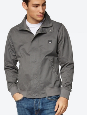 Water Repellent Jacket with Standing Collar