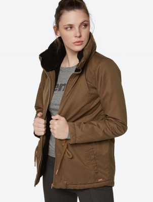 Water repellent jacket Concise in parka style