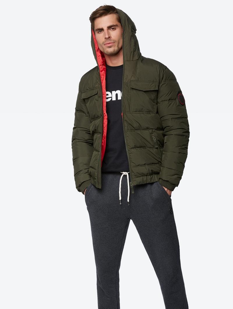 Bench Grün Mens Jacket Größe Xl