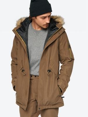 Waterproof Ski Jacket with Back Print