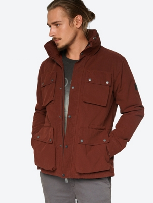 Padded Jacket with Foldaway Hood in Collar