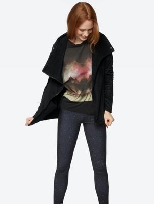 Soft Fleece Jacket with Shawl Collar