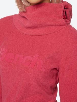 Soft Fleece Hoodie with Velvety Bench-Logo