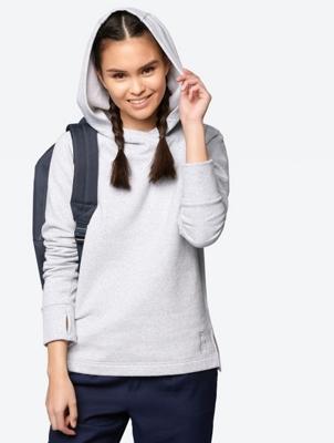Fine Knit Hoodie with Raglan Sleeves