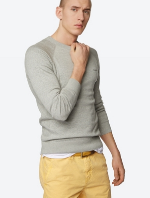 Classic Crew Neck Jumper Prank in Fine Knit
